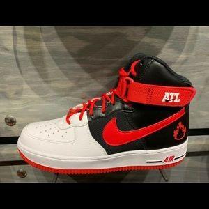 Nike Air Force 1 High ATL White Black Red
